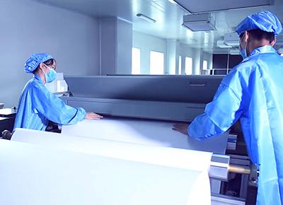 空气过滤产品生产过程